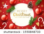 festive red and gold christmas... | Shutterstock .eps vector #1550848733
