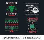 funny christmas graphic prints... | Shutterstock . vector #1550853140