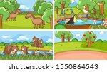 background scenes of animals in ... | Shutterstock .eps vector #1550864543