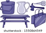 isolated household items in...   Shutterstock .eps vector #1550864549