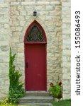 A Door Of An Old Village Church