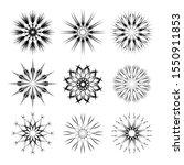 set of unusual black snowflakes ... | Shutterstock .eps vector #1550911853