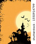 halloween black haunted house... | Shutterstock . vector #1550914799