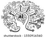 ai artificial intelligence... | Shutterstock .eps vector #1550916560
