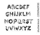 alphabet grunge letters... | Shutterstock .eps vector #1550960930