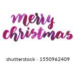 merry christmas watercolor... | Shutterstock . vector #1550962409