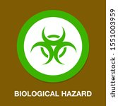hazard icon. flat illustration...   Shutterstock .eps vector #1551003959