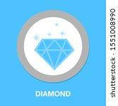diamond icon. flat illustration ... | Shutterstock .eps vector #1551008990