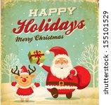 Illustration Of Santa Claus An...