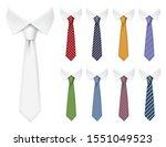men ties. fabric clothes items... | Shutterstock .eps vector #1551049523