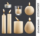 candles collection. decorative... | Shutterstock .eps vector #1551049589