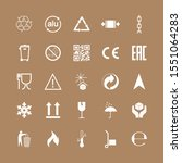 packaging icons  package signs... | Shutterstock .eps vector #1551064283