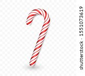 christmas candy cane isolated... | Shutterstock .eps vector #1551073619