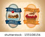 cupecake badges and labels 03   Shutterstock .eps vector #155108156
