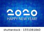 happy new year vector 2020.... | Shutterstock .eps vector #1551081860