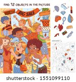 find 12 objects in the picture. ... | Shutterstock .eps vector #1551099110