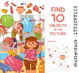 find 10 objects in the picture. ... | Shutterstock .eps vector #1551099113