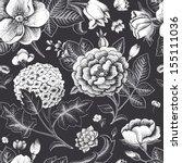 beautiful vintage floral... | Shutterstock .eps vector #155111036