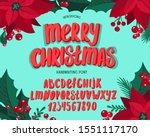 christmas font. holiday... | Shutterstock .eps vector #1551117170