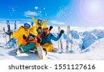Ski In Winter Season  Mountains ...