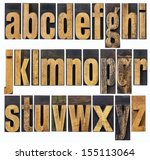 complete english lowercase... | Shutterstock . vector #155113064