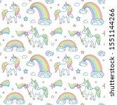 delicate children's pattern...   Shutterstock .eps vector #1551144266