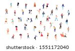 dancing people vector isolated... | Shutterstock .eps vector #1551172040