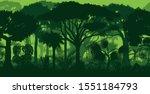 vector horizontal seamless... | Shutterstock .eps vector #1551184793
