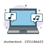 vector laptop icon with...