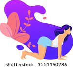 young people doing yoga  barre  ... | Shutterstock .eps vector #1551190286