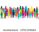 vector silhouette of children... | Shutterstock .eps vector #1551194063