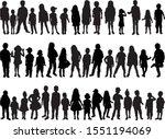 vector silhouette of children... | Shutterstock .eps vector #1551194069