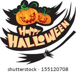 pumpkin for halloween | Shutterstock .eps vector #155120708