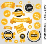 vector stickers labels and... | Shutterstock .eps vector #155121599