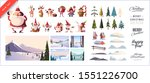 christmas kit for creating... | Shutterstock .eps vector #1551226700