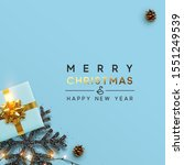 christmas banner. background... | Shutterstock .eps vector #1551249539