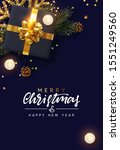 merry christmas and happy new... | Shutterstock .eps vector #1551249560