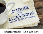 attitude is everything  ... | Shutterstock . vector #155125424