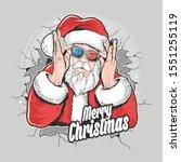 santa claus christmas artwork... | Shutterstock .eps vector #1551255119