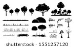 tree  plants  and grass vector...   Shutterstock .eps vector #1551257120