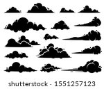cloud vector graphic design. a... | Shutterstock .eps vector #1551257123
