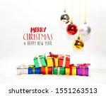 christmas card  illustration...   Shutterstock . vector #1551263513