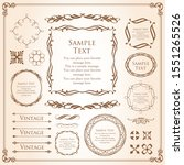 gorgeous and beautiful vintage... | Shutterstock .eps vector #1551265526
