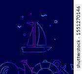 sailing yacht  sailboat...