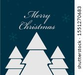 the merry christmas pines... | Shutterstock .eps vector #1551270683