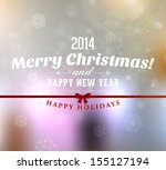 merry christmas and happy new... | Shutterstock .eps vector #155127194
