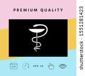 pharmacy symbol medical snake... | Shutterstock .eps vector #1551281423