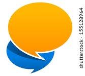 speech bubbles on top of each... | Shutterstock .eps vector #155128964