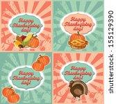 thanksgiving invitation and... | Shutterstock .eps vector #155129390