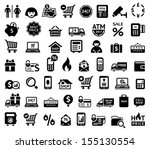 shopping icons | Shutterstock .eps vector #155130554